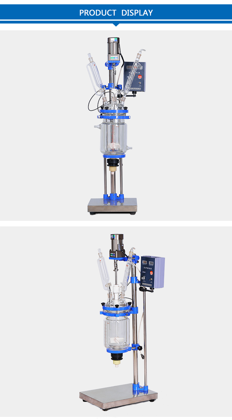 Energy-Saving distiller Glass Chemical Reactor price 3L