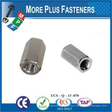 Made in Taiwan Stainless Steel Brass Aluminium Silicone Bronze Hexagon Coupling Nut DIN 6334