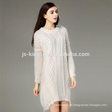 2017 moda vestido senhoras vestido mohair / vestido de camisola vestido de lã