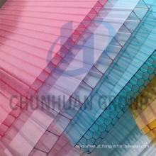 Folha oca de cristal do policarbonato, painel de Sun do policarbonato