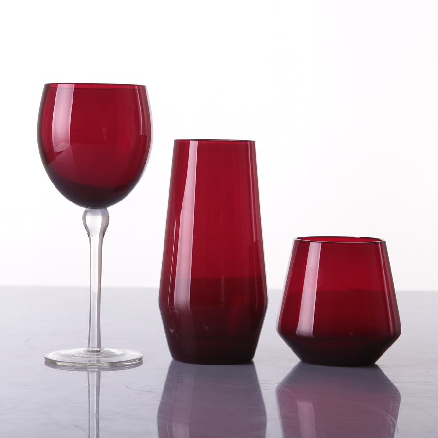Br 9005 9006wedding Colored Long Stem Goblet Cup Red Wine Glass
