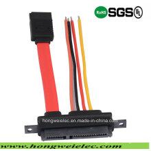 SATA 7 + 15p bis 4p Stromanschluss und 7p SATA Kabel