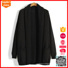 2017 Latest design long sleeves sweater cable black men cashmere shawl