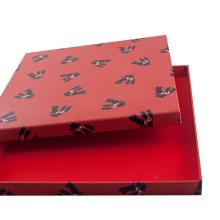 Embalaje de regalo de cartón duro Caja de lujo personalizada para bufandas