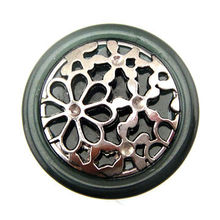 Ornate Combination Button with Filigree ABS Accessories, Tunnel Shank at Back, Fashionable Design