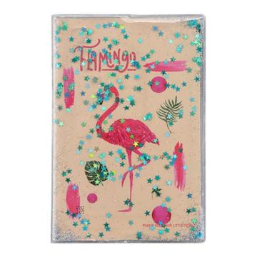 FLAMINGO PVC SEQUINS COVER LIQUID NOTEBOOK-0