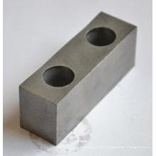 Carboneto de tungstênio para peça de reposição de borne profundo com forma de faixa