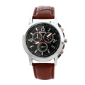 Business Men Leather Quartz Wristwatches
