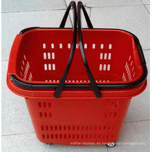 Cesta de compras de alta calidad con ruedas