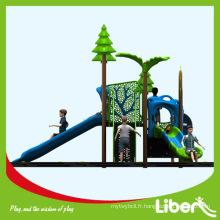 Gymnastique de la jungle de plastique en acier galvanisé / Aire de jeux extérieure avec diapositives