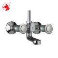 Robinet de bain / douche à double poignée de cartouche en laiton (ZS58601A)