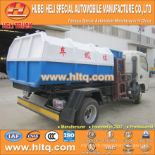 Hot sale low price 5m3 NEW dongfeng 4x2 hydraulic lifter garbage truck diesel engine