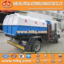 Горячая продажа низкая цена 5m3 NEW dongfeng 4x2 гидравлический грузовик мусоровоз дизельный двигатель