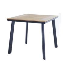 DECOR wholesale aluminium PS wood plastic wood outdoor garden table