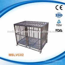 MSLVC02 Cage de chien en acier inoxydable