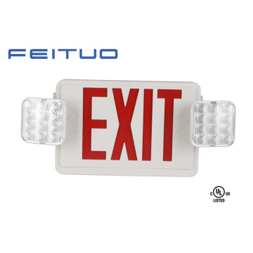 Luz de emergencia, Combo UL, señal de salida, LED signo, letrero de salida de emergencia
