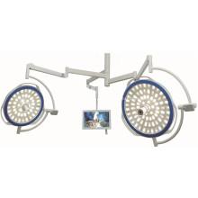 Lámpara de doble cabeza de emergencia con sistema de cámara