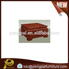 Square wooden low price tea table design