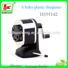 factory plastic manual pencil sharpener with rubber feet
