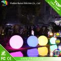 Boule plate décorative colorée imperméable rechargeable sans fil de LED