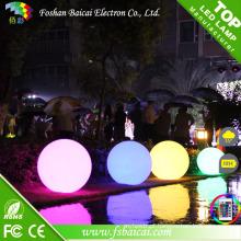 Bola lisa decorativa colorida recarregável sem fio impermeável do diodo emissor de luz