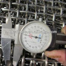 Pano de tela de malha de arame / mineração frisado de alta qualidade