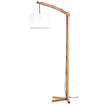 Wooden Base with Fabric Shade Modern Floor Lamp (LBMD-AFD)