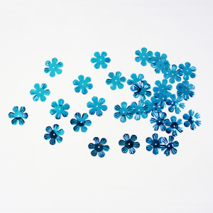 Sky Blue Flower Sequin