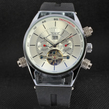 Stainless steel case back mechanical 3atm watch