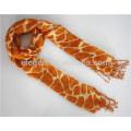 Giraffe Pattern Print Rayon Scarf