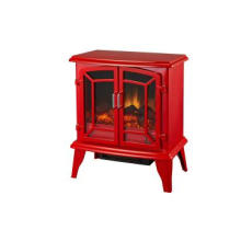 Economical CSA & UL Approved Electric Fireplace Heater in Red Color