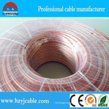 Electric Copper Wire Transparent Flat Parallel Speaker Cable Customized Size