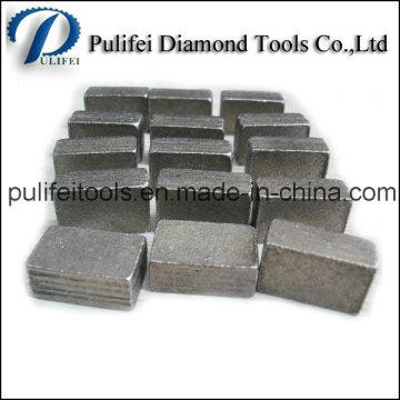 Segment de granit de Sandwich d'outils de coupe de diamant pour la pierre de marbre