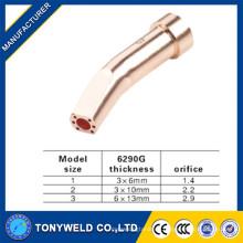 Fabricantes 6mm / 10mm 6290G de cobre / latón de gas de corte de boquilla