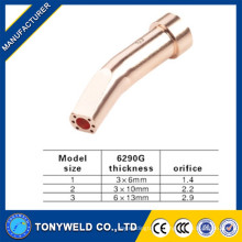 Manufacturers 6mm/10mm 6290G copper/brass gas cutting nozzle