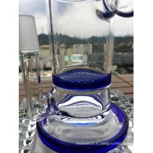 Tubes à fumer Percolateur en nid d'abeille Tuyau en verre 14/18 mm Fonction de joint
