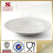 Лучшие продажи дешевая оптом дешевые белые фарфоровые закуска круглые суповые тарелки