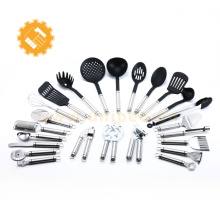 Best selling products 2017 in usa stainless steel handle nylon kitchen utensils set