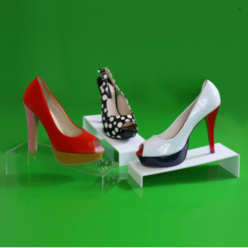 Acryl Rack Schuh Display Stand Halter mit Preisschild