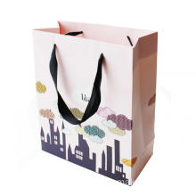 Unik C1S Artpaper Bag med Lamination och Ribbon