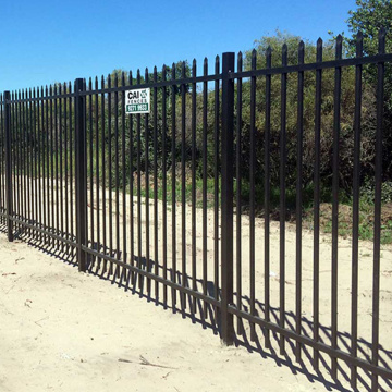 Golden factory provide iron fence