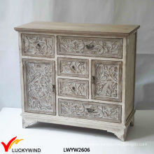 Different Drawer Size Console Hand Carved Wooden Furniture
