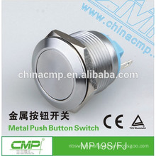 MP19S/FJ waterproof ip67 metal push button vandal proof momentary switch
