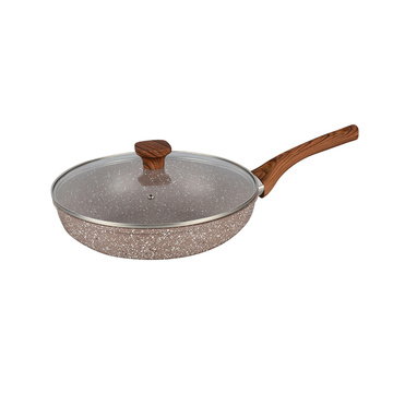 durable granite coated aluminium home cooking no oil egg forged fry pan