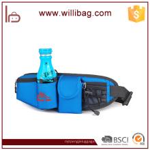 Saco de cinto de nylon de alta qualidade com suporte de garrafa de água correndo saco de cintura