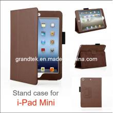 Stand cas pour iPad Mini en cuir couvrir cas (pluie-20130919-10)