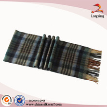 Bufanda de Pashmina de la tela escocesa de los hombres de la manera
