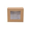 Papier cadeau pliable avec décoration de fenêtre en PVC