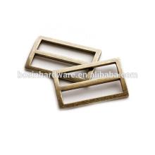 Moda de alta qualidade de metal antigo bronze ajustável anel retângulo