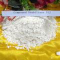 Estabilizador de pó de zinco e cálcio branco para composto de PVC